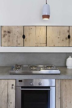 Wood & concrete. Kitchen design by Katrin Arens