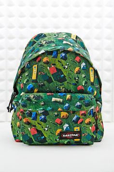 Eastpak Pak'R Padded Backpack in Green - urban outfitters