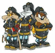 Loony tones dudes fights fire too Firefighter Paramedic, Volunteer Firefighter, Firefighter Tattoos, Fire Dept, Fire Department, Fireman Room, Cool Fire, Cartoon Pics, Fire Trucks