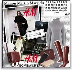 """""""Maison Martin Margiela with H"""" by chelseaco ❤ liked on Polyvore"""
