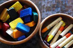 beeswax crayons #Bienen www.apidaecandles.de
