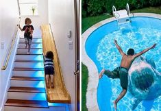 """This is Amazing About 20 Design Ideas That Can Take Your House to Another Level Steve Jobs once said, """"Most people make the mistake of th. Steve Jobs, Swimming Pool Tiles, Fish Swimming, Transformers, Swing Table, Office Pods, Log Siding, Stained Glass Door, Mural Wall Art"""
