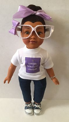 "I Am Strong ""Black Dolls Rock"" by LanaDollCreations on Etsy"