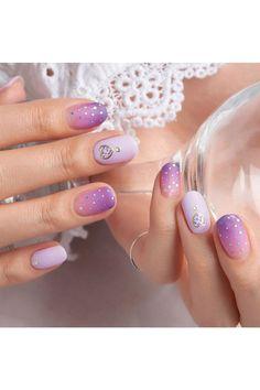 White Coffin Nails, White Acrylic Nails, White Nails, Minx Nails, Gel Nails, Nail Polish, Purple Nail, Cute Nail Art Designs, Spring Nails