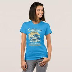 CALIFORNIA BEACH T-Shirt  $31.65  by FeralGearDesigns  - cyo diy customize personalize unique