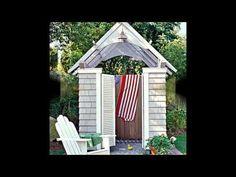 Уютный дачный душ или садовый душ. Несколько вариантов