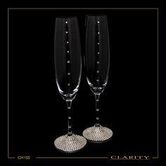 Σετ Σαμπάνιας ποτήρια κρυστάλλινα με Swarovski Flute, Light Bulb, Champagne, Swarovski, Tableware, Home Decor, Dinnerware, Decoration Home, Room Decor