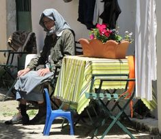 Corfu-old Greek lady