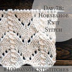 Horseshoe Knit Stitch +VIDEO