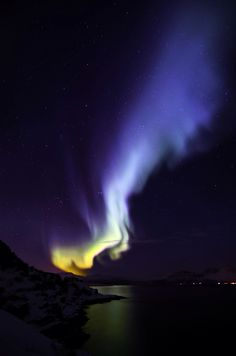 Auroral Flame. Taken by Micha, Straumfjord Norway