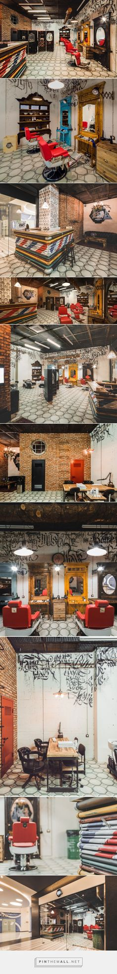 black beard barbershop by bv studio moscow russia barbershop designbarbershop ideasmoscow - Barber Shop Design Ideas