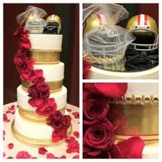 49er Wedding Cake by Soul Desire Bakery