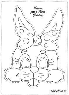 Malvorlage: Coloring pages for kids mask Easter Colouring, Colouring Pages, Free Coloring, Coloring Pages For Kids, Kids Coloring, Easter Projects, Easter Crafts For Kids, Diy For Kids, Easter Art