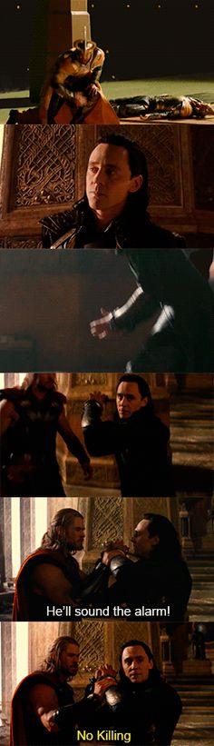 Thor: The Dark World - Deleted Scene - Thor Battles The Einherjar. Video: http://torrilla.tumblr.com/post/78832393767/thor-the-dark-world-deleted-scene-thor
