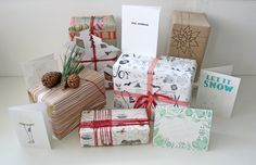 Creative gift wrapping ideas with twine and washi tape /// Nic Annette Miller of Friends Make Prints