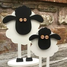 Set of 2 Wooden Sheep #woodworkingforkids