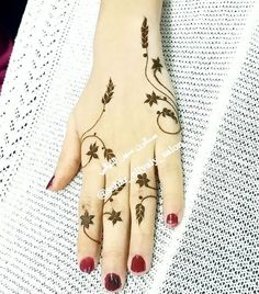Beautiful and Unique Henna Design - New Mhendi Designs Henna Hand Designs, Pretty Henna Designs, Mehndi Designs Finger, Mehndi Designs For Girls, Stylish Mehndi Designs, Mehndi Designs For Fingers, Mehndi Art Designs, Bridal Mehndi Designs, Henna Tattoo Designs