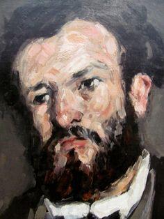 Paul Cézanne - Portrait of Anthony Valabregue (detail), 1870