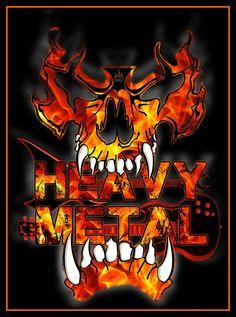 Heavy Metal by Lindsay Spillsbury Metal On Metal, Heavy Metal Rock, Heavy Metal Music, Heavy Metal Bands, Black Metal, Hard Rock, Music Pics, Music Artwork, Thrash Metal