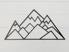 Three Peaks Geometric Mountains - 35 x 17.5 inches