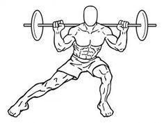 Barbell Side Squats 2