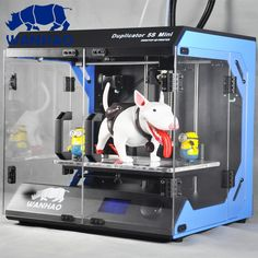 1099.00$  Buy here - http://alini9.worldwells.pw/go.php?t=32696022394 - Wanhao D5S mini High Precision Large Build volume Rapid Prototyping single nozzle 3d printer, mental frame 1099.00$