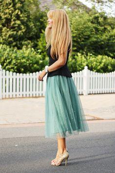 soft aqua tulle skirt   Fashion Painted Dreams