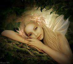 Peach hair fairy