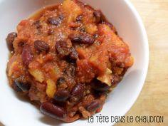 Chili à la patate douce (mijoteuse)