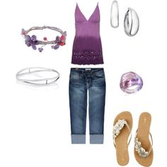 Purple Casual, created by khatfield9 on Polyvore