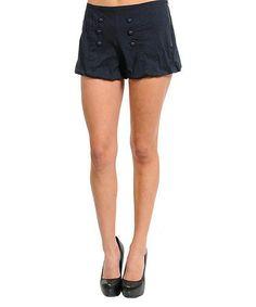 Look what I found on #zulily! Navy Button Shorts #zulilyfinds