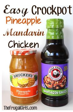 Easy Crockpot Pineapple Mandarin Chicken Recipe! #crockpot #chicken #recipes