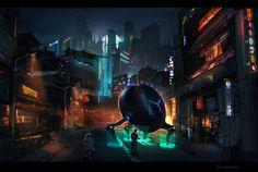 tune-up by sheer-madness | Digital Art / Drawings & Paintings / Sci-Fi | Futuristic Concept City Metropolis Cyberpunk