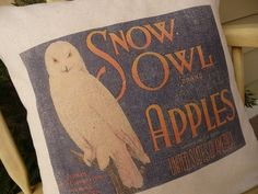 Snowy Owl Pillow Cover - Farmhouse Chic Pillow Cover