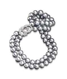 Mastoloni Exclusive Collection Double Strand Tahitian Pearl Necklace