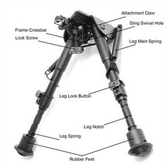 """TMS 6-9"""" Bipod For Ruger Charger Ruger 10-22 New In Box on eBay!"""