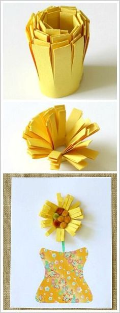 Unique Paper Flower Craft for Kids- Perfect for spring or Mother's Day! ~ http://BuggyandBuddy.com