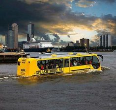 Amphibian bus in port Rotterdam