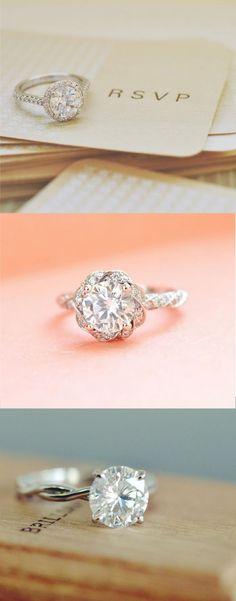 Love the elegant detail of these stunning diamond engagement rings. ==