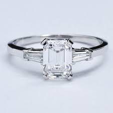 Wedding Rings Classic Emerald Cut Diamond Engagement Ring at - Emerald Cut Diamond Engagement Ring, Emerald Cut Diamonds, Diamond Rings, Diamond Jewelry, Diamond Cuts, Jewelry Rings, Fine Jewelry, Pink Diamonds, Gold Rings