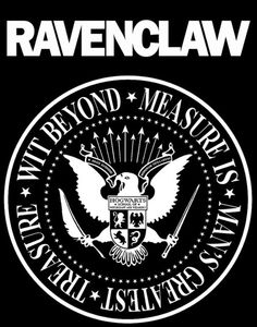 The most legendary punk band of the wizarding world - Ravenclaw! I did my own, simplified version of the Hogwarts coat of arms, and gave the eagle a qui. T-shirt: Ravenclaw Harry Potter Books, Harry Potter Fandom, Harry Potter World, The Ramones Logo, Ravenclaw Logo, Hogwarts Houses, Mischief Managed, Nerdy, Fandoms