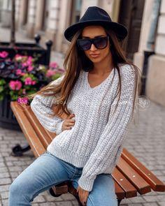 Sivý dámsky sveter pletený Tops, Women, Fashion, Moda, Fashion Styles, Fashion Illustrations, Woman