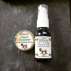 Beard Conditioner & Oil Set // For Bearded Bad Boys, Cowboys and Good Guys too //Condition Tame Those Whiskers Water Free Vegan Organic