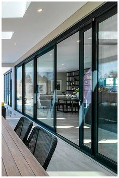When Wideline stacking doors are opened they provide up to 4 meters of uninterrupted outdoor views & Fletcher Window Door Systems www.FWDS.co.nz House 1 on The Block - 4 ...