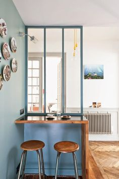 Blue Accent Wall | Small Dining
