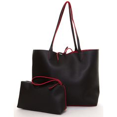 Two-tone Faux Leather Skinny Tote Bag