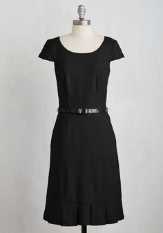 My Byline of Work Dress in Black. Show off your professional prowess in this black sheath dress. #black #modcloth