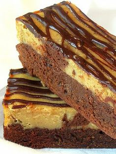 Peanut Butter and Chocolate Cheesecake Swirl Brownies