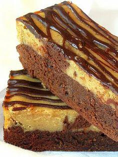 Peanut Butter and Chocolate Cheesecake Swirl Brownies