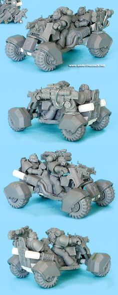Attack Bike, Bike, Conversion, Quad Bike, Space Marines
